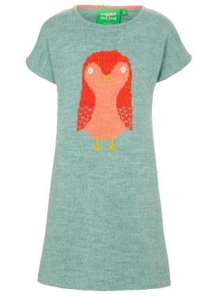 Buy Donna Wilson for John Lewis Owl Intarsia Knit Dress, Sage Green Online at johnlewis.com