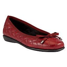 Buy John Lewis Designed for Comfort Peacock Quilt Leather Loafers, Red Online at johnlewis.com