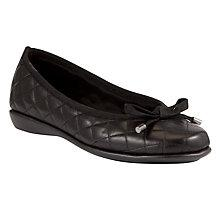 Buy John Lewis Designed for Comfort Peacock Quilt Leather Loafers, Black Online at johnlewis.com
