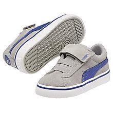 Buy Puma Children's S Vulc Trainers, Grey/Blue Online at johnlewis.com