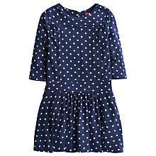 Buy Little Joule Girls' Julia Spot Dress, Navy Online at johnlewis.com