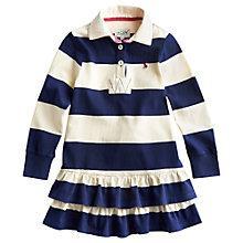 Buy Little Joule Girls' Aubrey Rugby Dress, Navy/White Online at johnlewis.com