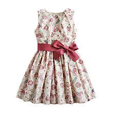 Buy Little Joules Girl Croquet Horse Dress, Cream Online at johnlewis.com