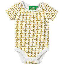 Buy Donna Wilson for John Lewis Baby Stem Print Bodysuit, Yellow Online at johnlewis.com