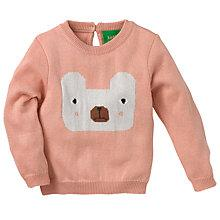 Buy Donna Wilson for John Lewis Baby Intarsia Knit Bear Jumper, Pink Online at johnlewis.com