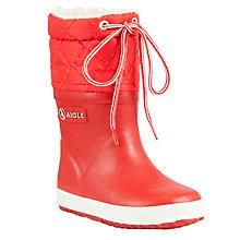 Buy Aigle Childrens' Giboulee Wellington Boots Online at johnlewis.com
