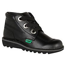 Buy Kickers Childrens' Kick Large It Boots, Black Online at johnlewis.com