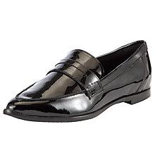 Buy COLLECTION by John Lewis Rebecca Patent Loafer Shoes, Black Online at johnlewis.com