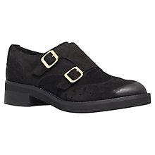 Buy Carvela Lindon Suede Brogues, Black Online at johnlewis.com