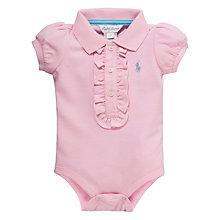 Buy Polo Ralph Lauren Short Sleeve Polo Bodysuit, Pink Online at johnlewis.com
