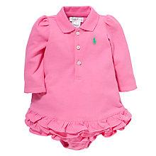 Buy Polo Ralph Lauren Baby Cupcake Dress, Pink Online at johnlewis.com