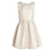 Buy John Lewis Girl Jacquard Dress, Gold Online at johnlewis.com