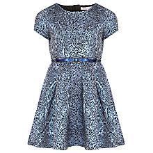 Buy Loved & Found Girls' Metallic Leopard Print Dress, Blue Online at johnlewis.com