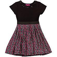 Buy Derhy Kids Girls' Maxine Contrast Skirt Geo Dress, Pink/Black Online at johnlewis.com