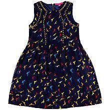 Buy Derhy Kids Girls' Mallary Bird Print Dress, Navy/Multi Online at johnlewis.com