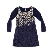 Buy Derhy Kids Maite Foil Dress, Navy Online at johnlewis.com