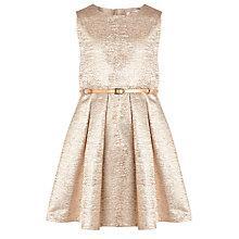 Buy Loved & Found Girls' Metallic Dress, Gold Online at johnlewis.com