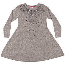 Buy Derhy Kids Girls' Mathilde Sequin Front Dress, Grey Online at johnlewis.com