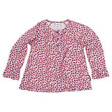 Buy Polarn O. Pyret Baby's Floral Top, Pink/White Online at johnlewis.com