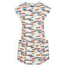 Buy Kin by John Lewis Girls' Brushed Stripe Dress, Multi Online at johnlewis.com