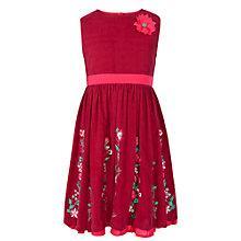 Buy John Lewis Girl Corduroy Embellished Dress, Raspberry Online at johnlewis.com