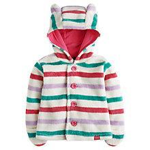 Buy Baby Joule Stripe Teddy Flissy Fleece, White/Multi Online at johnlewis.com