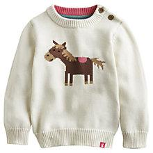 Buy Baby Joule Horse Knit Pippa Jumper, Oatmeal Online at johnlewis.com