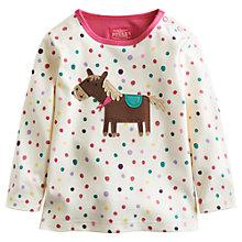 Buy Baby Joule Horse Appliqué Long Sleeve Top, White/Multi Online at johnlewis.com
