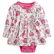 Buy Baby Joule Helena Horse Print Floral Dress, Pink/Multi Online at johnlewis.com