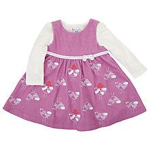Buy John Lewis Embroidered Birdy Corduroy Dress & Jersey, Pink/Cream Online at johnlewis.com