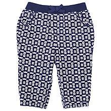Buy John Lewis Crown Print Corduroy Trousers, Navy/White Online at johnlewis.com
