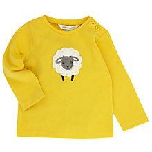 Buy John Lewis Baby Layette Crochet Sheep Long Sleeve T-Shirt, Yellow Online at johnlewis.com