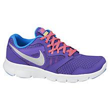 Buy Nike Flex Experience Trainers, Purple/Blue Online at johnlewis.com