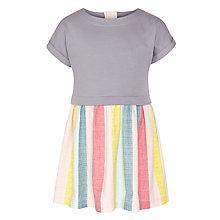 Buy Kin by John Lewis Girls' Jersey Top Stripe Skirt Dress, Grey/Multi Online at johnlewis.com