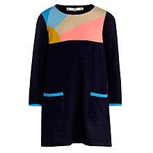 Buy John Lewis Girl Sunrise Knitted Dress, Blue Online at johnlewis.com