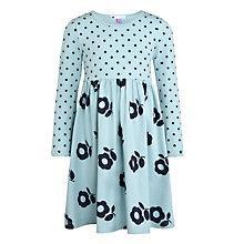 Buy John Lewis Girl Spot & Floral Print Dress, Aqua Online at johnlewis.com