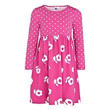 Buy John Lewis Girl Spot and Flower Dress, Pink/White Online at johnlewis.com