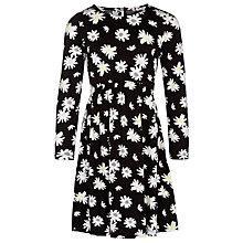 Buy John Lewis Girl Floral Jersey Dress, Black Online at johnlewis.com
