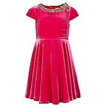 Buy John Lewis Girl Sequin Collar Velvet Dress, Purple Online at johnlewis.com