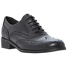 Buy Dune Black Helen Leather Lace Up Brogue Online at johnlewis.com