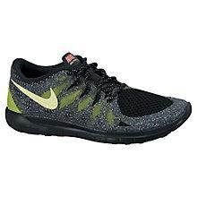 Buy Nike Free 5.0 Glow Children's Trainers, Black/Multi Online at johnlewis.com