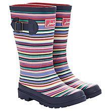 Buy Little Joule Multi Stripe Wellington Boots, Pink/Multi Online at johnlewis.com
