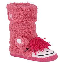 Buy Little Joule Giddy Up Slippers, Pink Online at johnlewis.com