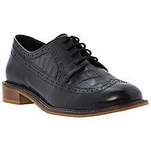 Buy Dune Lacker Reptile Print Detail Leather Brogues, Black Online at johnlewis.com