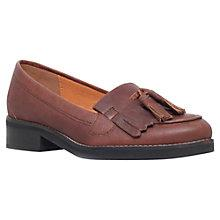 Buy KG by Kurt Geiger Lawson Leather Tasseled Loafers, Tan Online at johnlewis.com