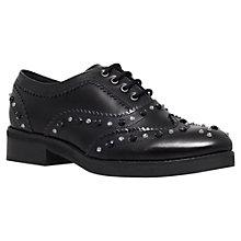 Buy KG by Kurt Geiger Lover Leather Stud Detail Flat Brogues Online at johnlewis.com