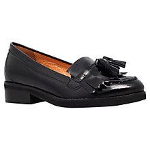 Buy KG by Kurt Geiger Lawson Leather Tasseled Loafers, Black Online at johnlewis.com