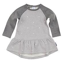 Buy Polarn O. Pyret Baby's Embroidered Dress, Grey Online at johnlewis.com