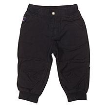 Buy Polarn O. Pyret Baby's Cargo Trousers, Black Online at johnlewis.com