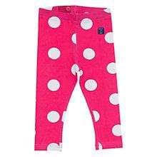 Buy Polarn O. Pyret Baby's Dotty Leggings, Pink Online at johnlewis.com